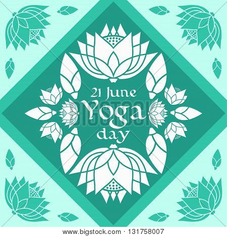 emblem of the International Day of Yoga lotus design