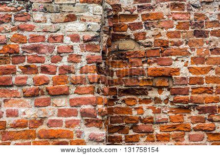 Ancient brick wall texture.