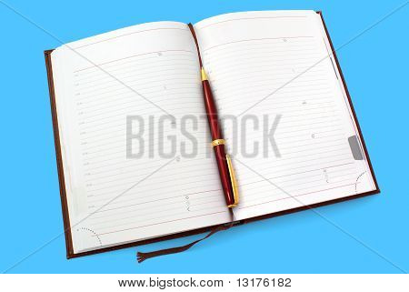 Opened Everyday Notebook With Ballpen