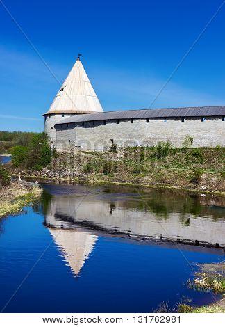 Ancient fortress at Staraya Ladoga city Russia