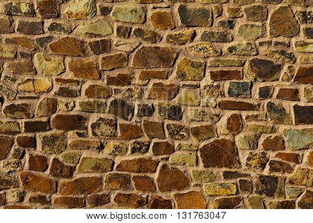 Old Rustic Looking Stone Wall Good For Texture Or Background