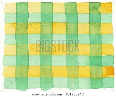 yellow green layered abstract geometric watercolor background