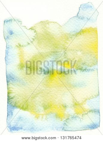 wet textures yellow blue abstract watercolor background