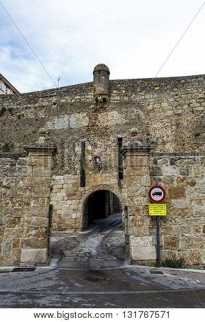 Hanging door to Ciudad Rodrigo Salamanca Spain. Access to the city by defensive walls
