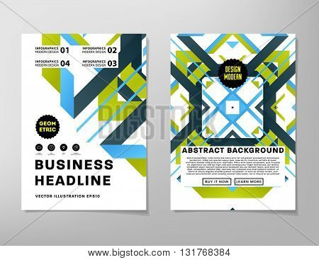Abstract Background. Geometric Shapes and Frames for Presentation, Annual Reports, Flyers, Brochures, Leaflets, Posters, Business Cards and Document Cover Pages Abstract Design. A4 Title Template