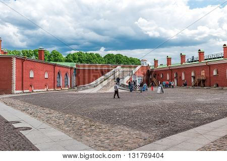 Tourists In Peter And Paul Fortress
