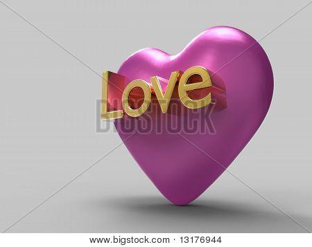 Pink Metal Heart