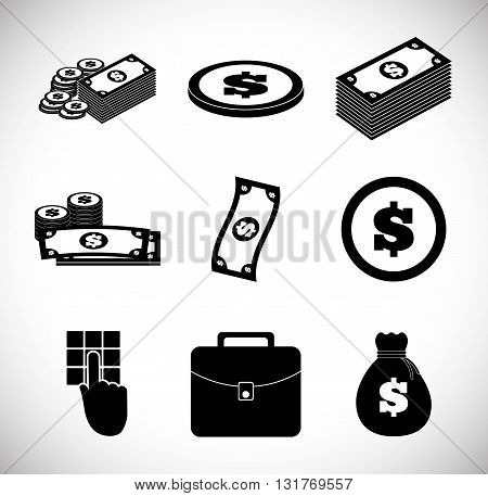 Money concept with icon design, vector illustration 10 eps graphic.