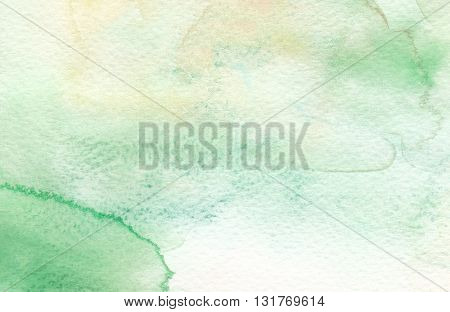 faded green yellow abstract watercolor textures background