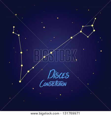 Vector illustration of Pisces constellation zodiac symbol
