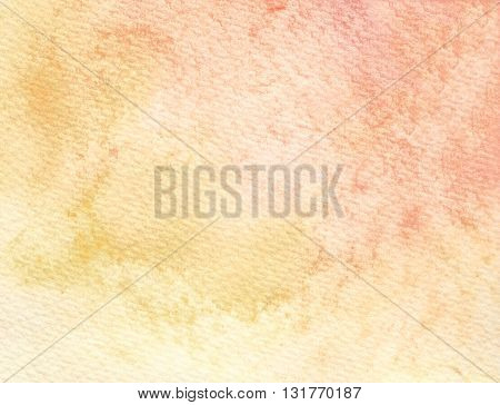 faded yellow red abstract watercolor textures background