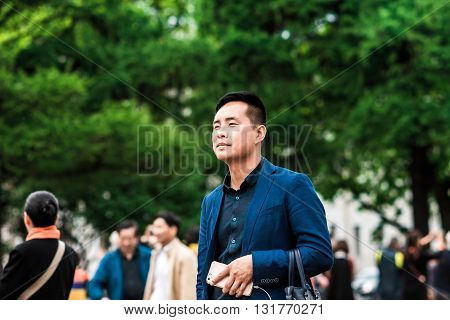 Asian Man Outdoors