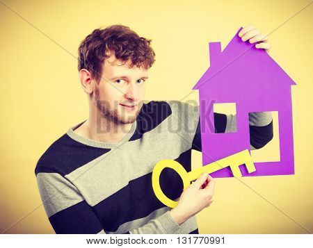 Man With House And Key.