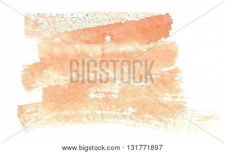 abstract orange yellow brush stroke watercolor background