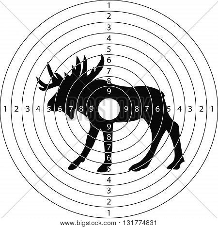 shooting target moose for the shooting range small arms made in the vector