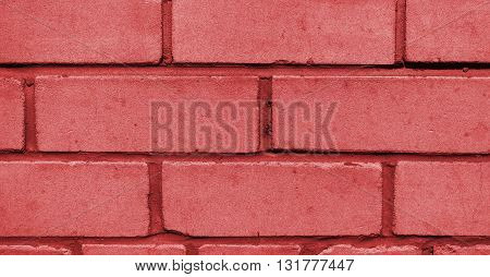 Wall from a silicate brick, brickwork, background, texture, red
