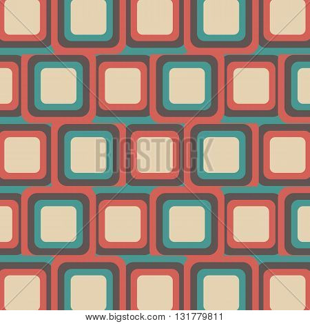 the retro square pattern background vintage style