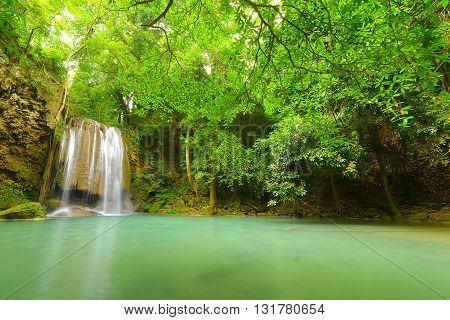Huay Mae Kamin Waterfall , Srinakarin Dam National Park , Kanchanaburi , Thailand