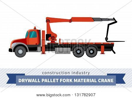 Drywall Pallet Fork Material Crane