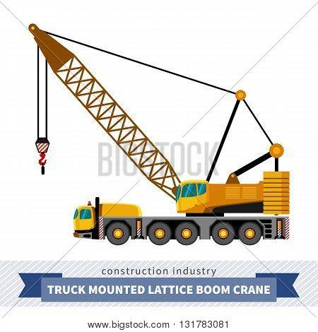 Truck Mounted Lattice Boom
