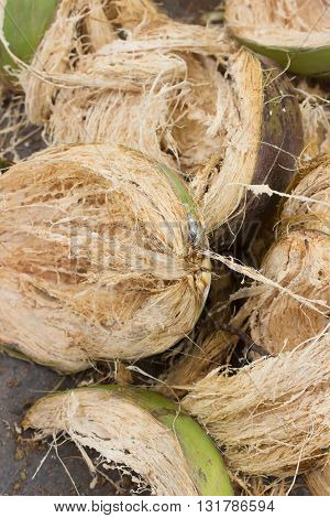 the Coconut husk  for use as Background