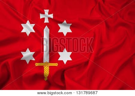 Waving Flag of Haarlem, with beautiful satin background