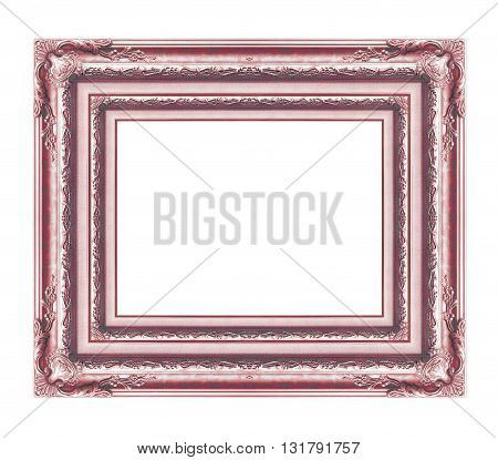 The antique frame isolated on white background