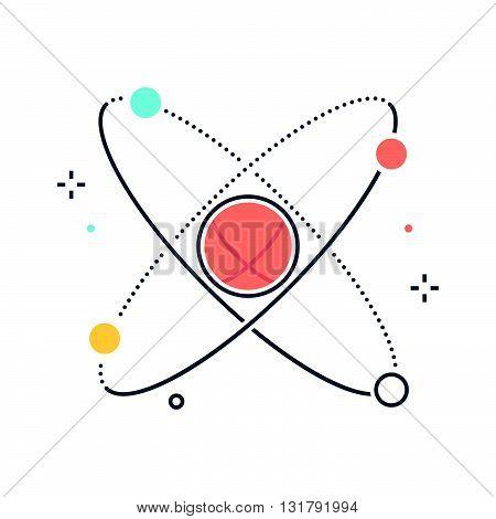 Color Line, Physics, Atom Illustration