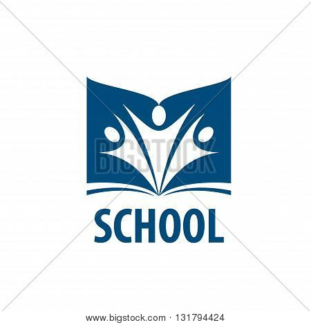 Abstract logo of books and school. Illustration, vector template