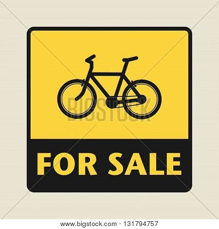 Bike For Sale icon or sign, vector illustration