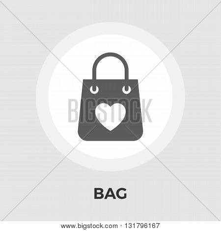 Bag store Icon Vector. Flat icon isolated on the white background. Editable EPS file. Vector illustration.