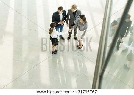 Young People In The Office Photographed From Above