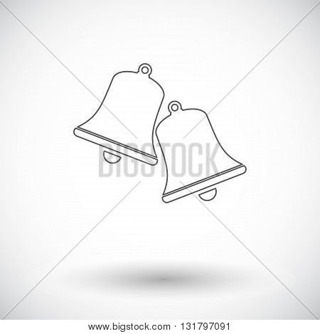 Christmas bell. Flat vector related icon  for web and mobile applications. It can be used as - logo, pictogram, icon, infographic element. Vector Illustration.