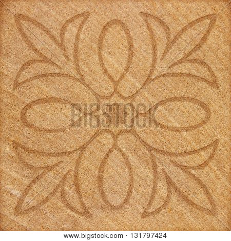 The Decorative brown sand stone tile background