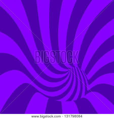 Striped spiral abstract patisserie background. Plum color. Spiral tunnel. Spiral background for packaging design of plum fruit products. Vector Illustration.