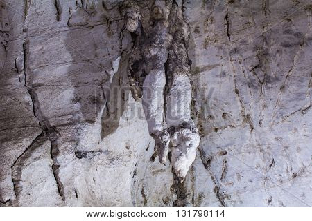 Hanging Rock in Luang Pha Wiang cave, Lamphun Thailand