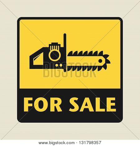 Tool For Sale icon or sign, vector illustration