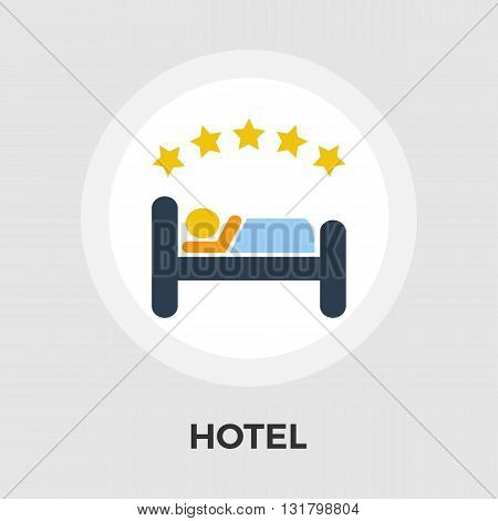 Hotel Icon Vector. Flat icon isolated on the white background. Editable EPS file. Vector illustration.