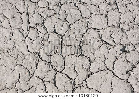 Texture of dry land in the cracks