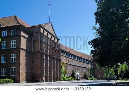 Kaliningrad, Russia - June 27, 2010: Building of Kaliningrad region Government. It is located in German building of 1928 construction which was Financial management of the province East Prussia