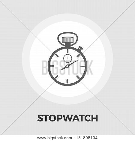 Stopwatch icon vector. Flat icon isolated on the white background. Editable EPS file. Vector illustration.