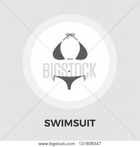 Swimsuit Icon Vector. Flat icon isolated on the white background. Editable EPS file. Vector illustration.