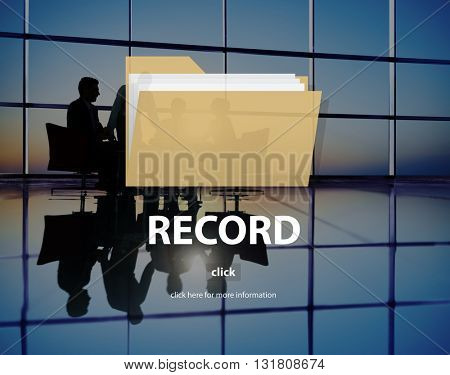Record Confidential Privacy Information Data Concept
