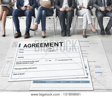 Agreement Contract Legal Document Concept