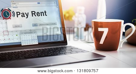 Pay Rent Real Estate Renting Available Concept