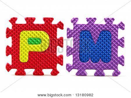 Piezas del rompecabezas del alfabeto