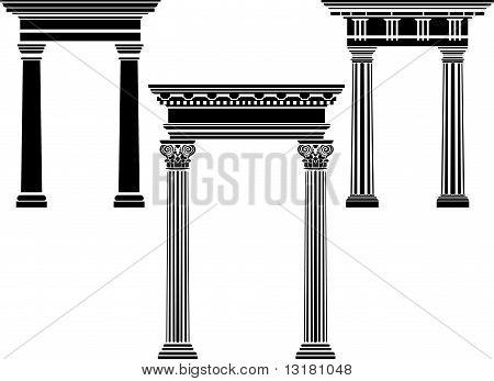 Conjunto de estêncil coluna clássica