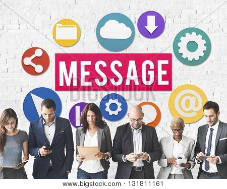 Message Communication Graphics Wall Concept