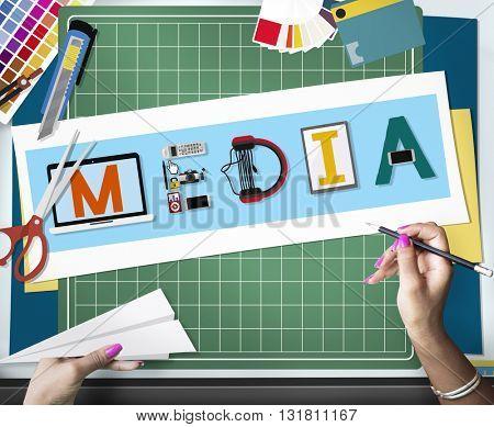 Media Entertainment Broadcast Communication Multimedia Concept