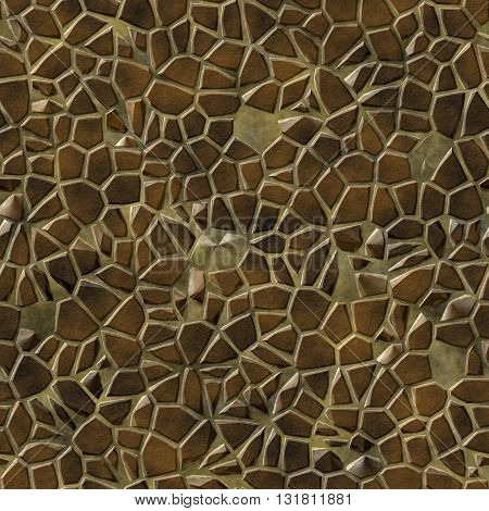 Seamless abstract texture of paved way pattern / 3D illustration